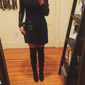 Zara Black Stretch Mini Skirt!